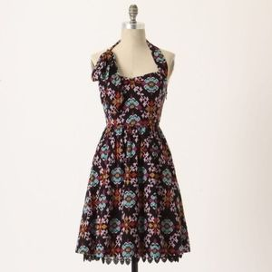 Anthropologie Edme & Esylite Primula Halter Dress